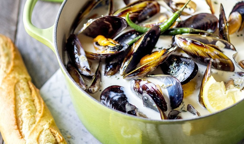 seafood mussels/moules